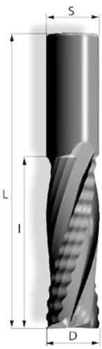 VHM - Schruppschlichtfräser 4Z pos Rechtslauf Spiralgenutet
