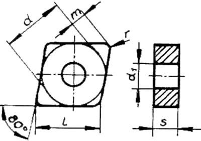 Skizze der Wendeschneidplatte FormCNUA