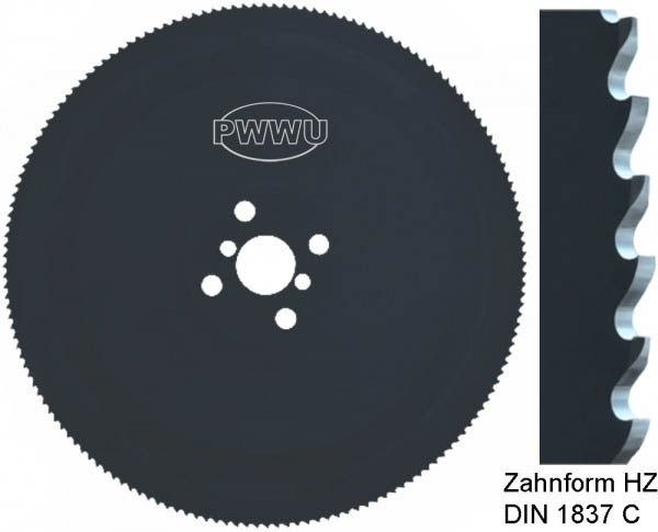 Metallkreissägeblatt, Metallsägeblatt Zahnform HZ pwwu24.de