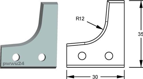 HW-Profilmesser 09.19112 konkav Radius 12mm, System FLURY