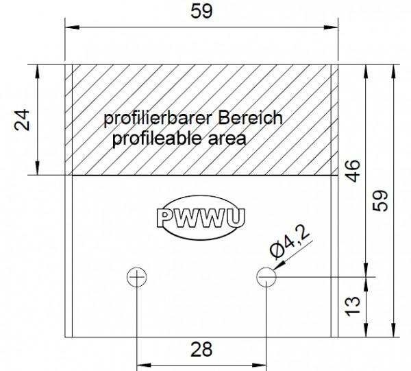 Profilmesser für 59mm Universal-Sicherheits-Messerköpfe System Guhdo / Gold / Flury von PWWU