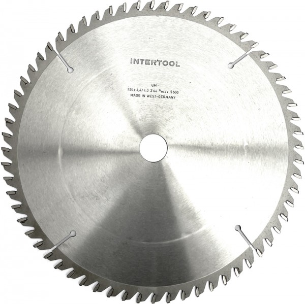 HM Sägeblatt Intertool D = 320 x 4,4 / 3,4 x 30 mm, 68Z TFZ pos. Neu