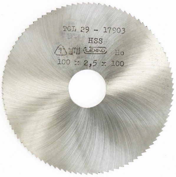 Metallkreissägeblatt HSS 100 x 2,5 x 22mm, 100 Zähne DIN 1837 A pwwu24.de