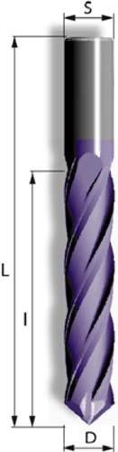 VHM Fräsbohrer mit 4 positiv spiralgenuteten Schneiden und Bohrspitze zum Bohren und Fräsen von Metall und Stahl Sandwichmaterial