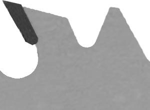Spandickenbegrenzer beim Längsschnittblatt