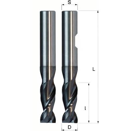 VHM Aluminiumfräser zum Alu fräsen, VHM Alufräser für Aluminiumbearbeitung und für NE-Metalle