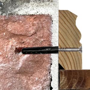 Fussleiste Befestigung mit Schraube Duebel