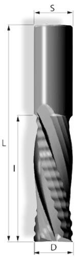 VHW-Schruppschlichtfräser 4Z pos Linkslauf Spiralgenutet