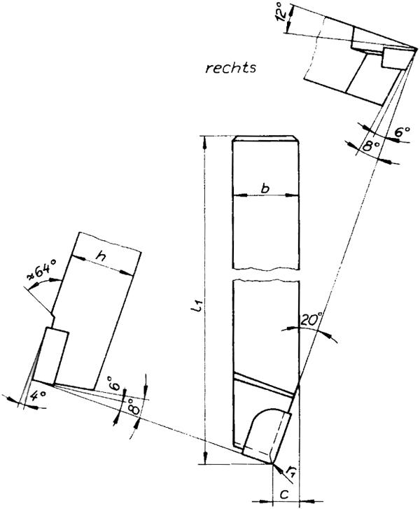 Drehmeissel rechts Skizze