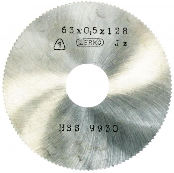 Metallkreissägeblatt HSS  63 x 0,5 x 16mm, 128 Zähne DIN 1837 A pwwu24.de