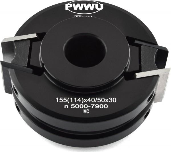Profilmesserkopf 114 x 40 / 50 x 30 mm Z=2, Sicherheits - Profilmesserkopf von pwwu24.de