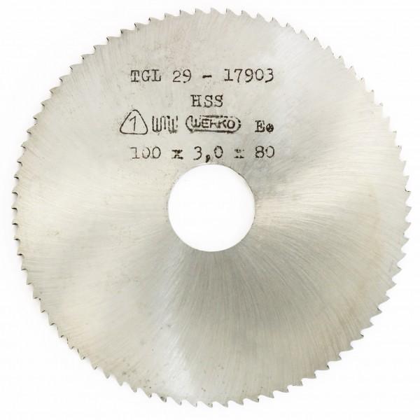Metallsägeblatt HSS 100 x 3,0 x 22 800 Zähne DIN 1837 B pwwu24.de