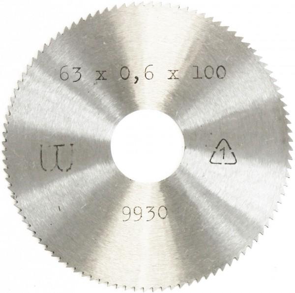 Metallkreissägeblatt HSS  63 x 0,6 x 16mm, 100 Zähne DIN 1837 A pwwu24.de