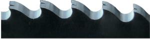 Metallsägeblatt Zahnform mit Spanteler