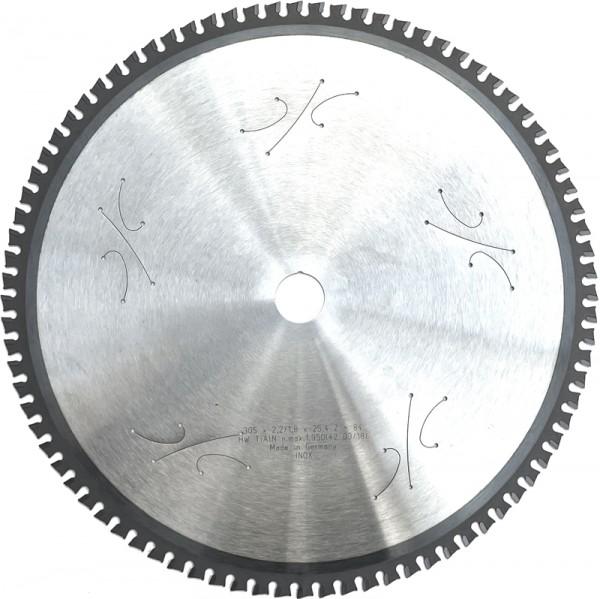 "HW Sägeblatt Ø 305 x 2,2 x 25,4mm Z84 LN TiAlN für Edelstahl auf ""Dry-Cut"" Maschinen"