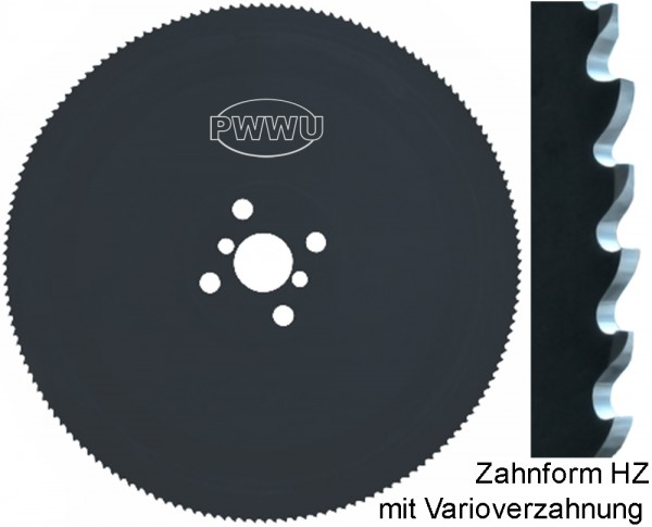 Metallkreissägeblatt HSS Varioverzahnung pwwu24.de