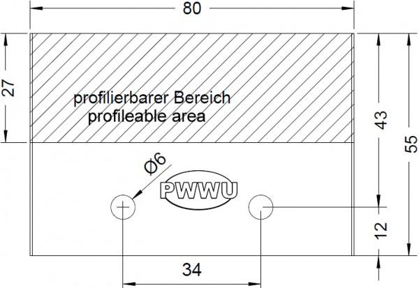 Sonderprofilmesser und Profilmeser 80mm von pwwu24.de