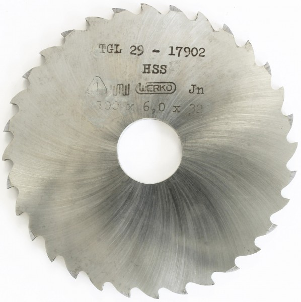Metallsägeblatt HSS 100 x 6,0 x 22 32 Zähne DIN 1837 C Nutfräser pwwu24.de