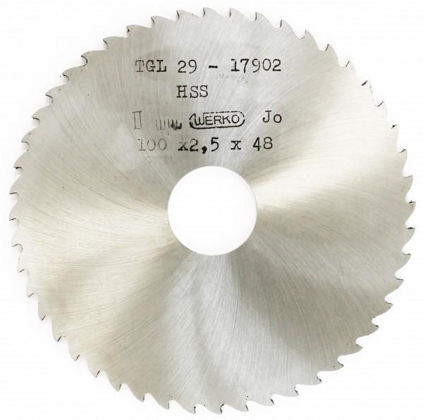 Metallsägeblatt HSS 100 x 2,5 x 22, 48 Zähne DIN 1837 B pwwu24.de
