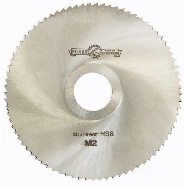 Metallsägeblatt HSS 125 x 1,0 x 27 80 Zähne DIN 1837 A pwwu24.de