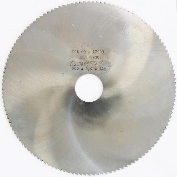 Metallsägeblatt HSS 200 x 3,0 x 32 128 Zähne DIN 1837 B