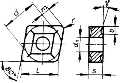 Skizze der Wendeschneidplatte CNUG