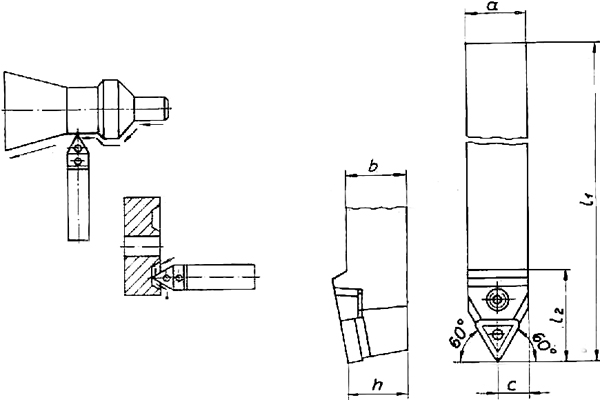 Skizze Klemmhalter D 75 3232 Drehhalter MTENN 3232 Q27