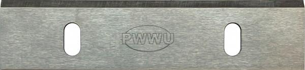 HSS Hobelmesser 128 x 30 x 3 EH 125 zwei Langlöcher für Abrichthobel EH 125/1