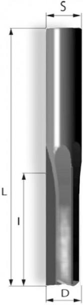 Schlichtfräser gerade 3Schneiden links